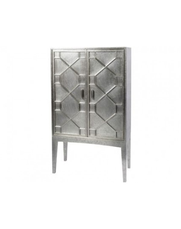 Astor Hand Embossed Metal Bar Cabinet